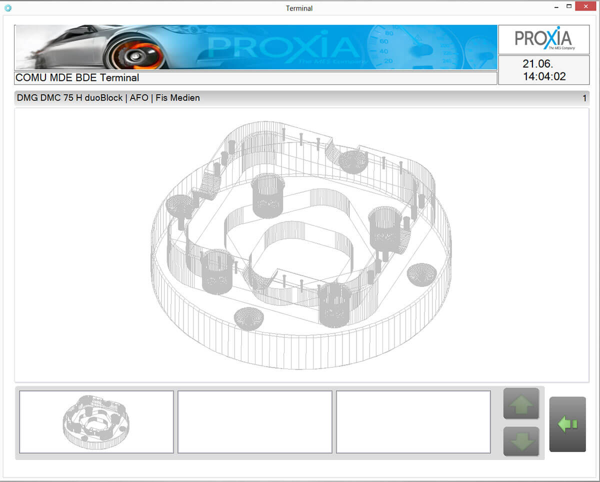 PROXIA Product DNC software impression 3