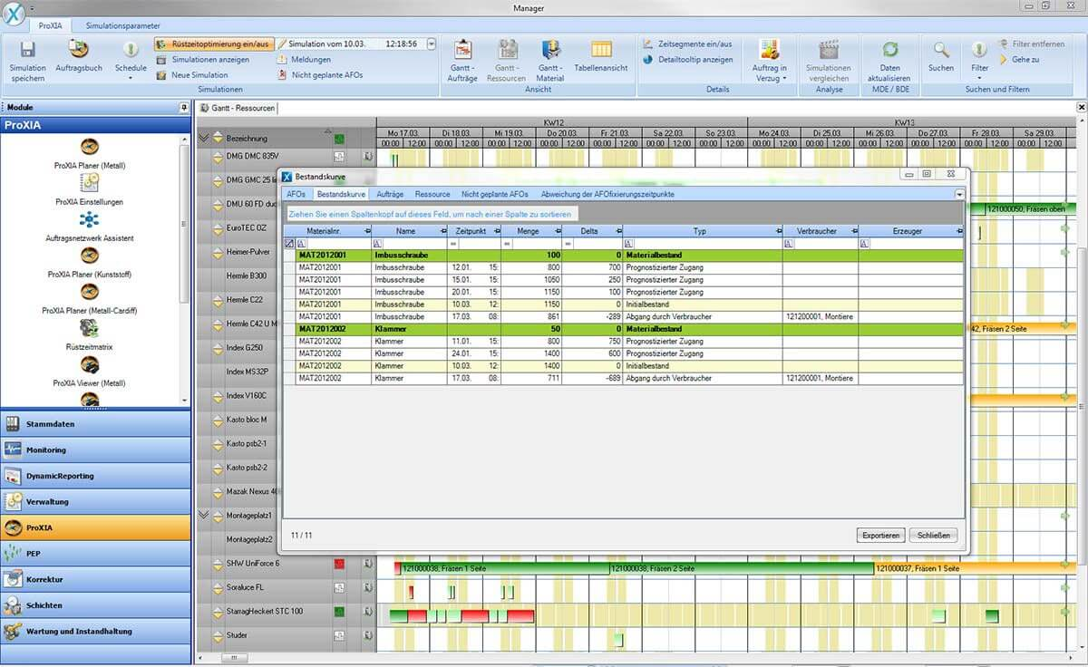 PROXIA Product Control room/Detailed planning software impression 6