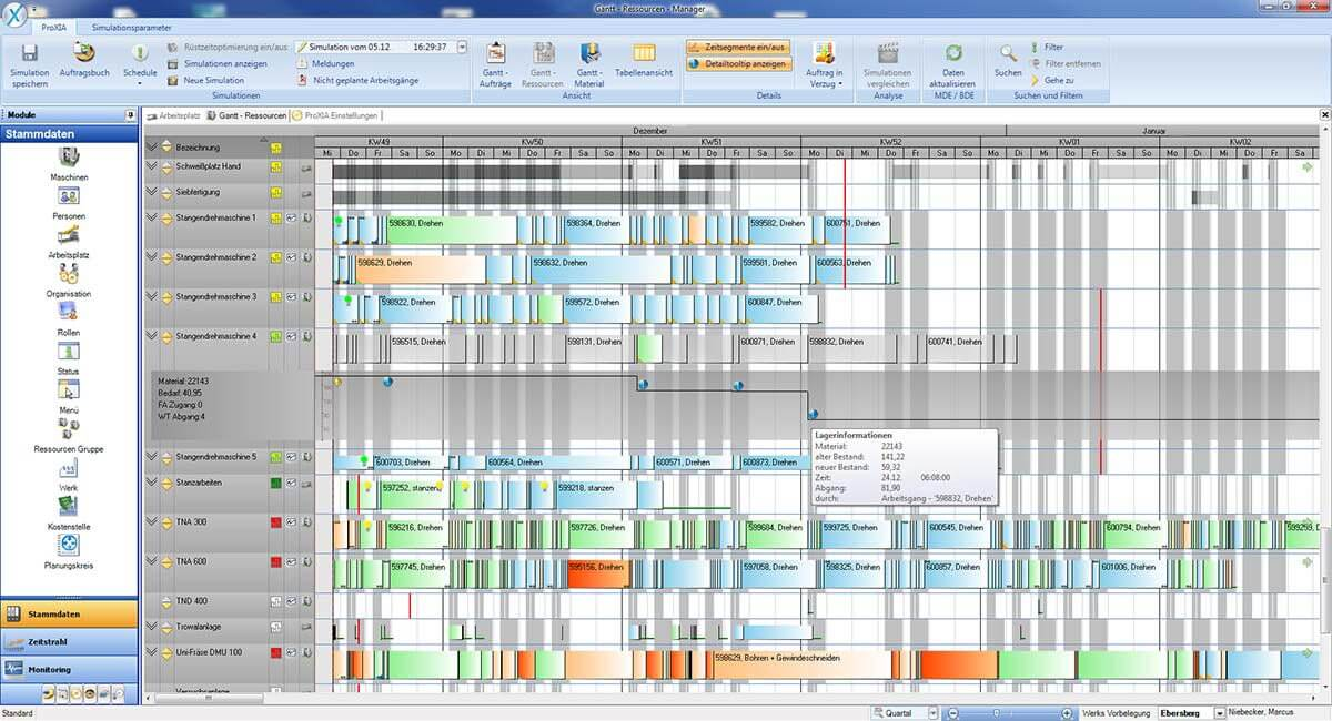 PROXIA Product Control room/Detailed planning software impression 8
