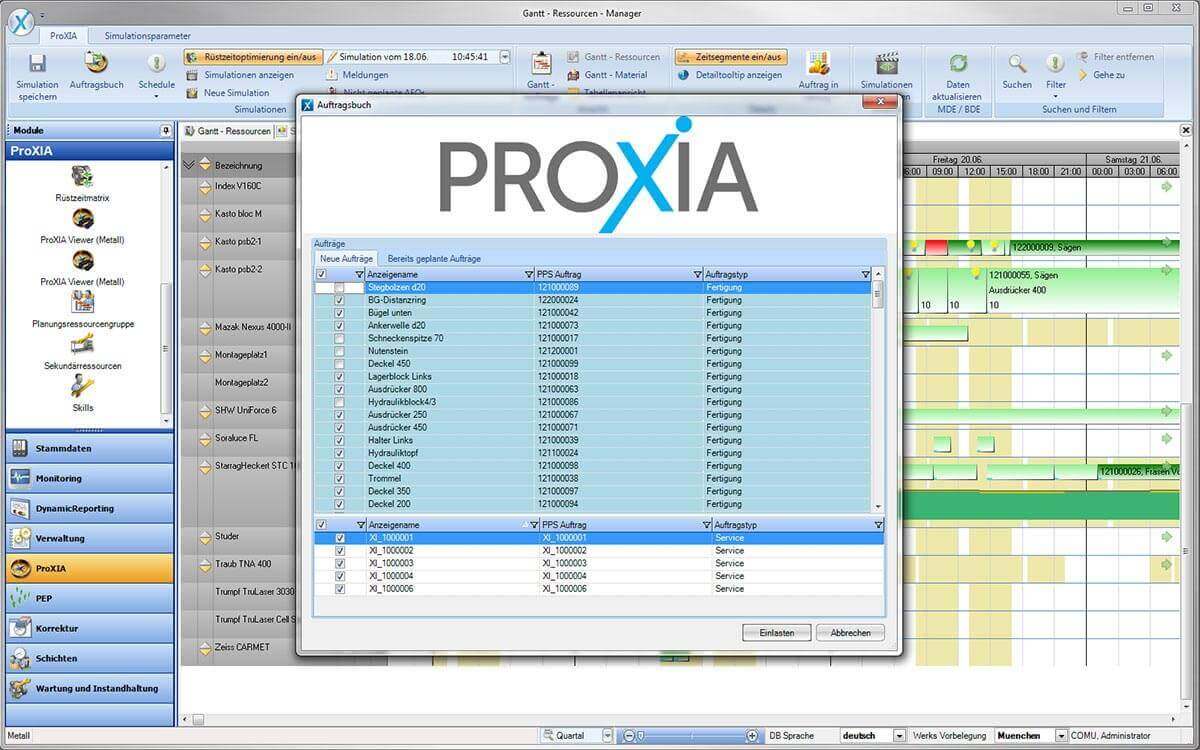 PROXIA Product Control room/Detailed planning software impression 16