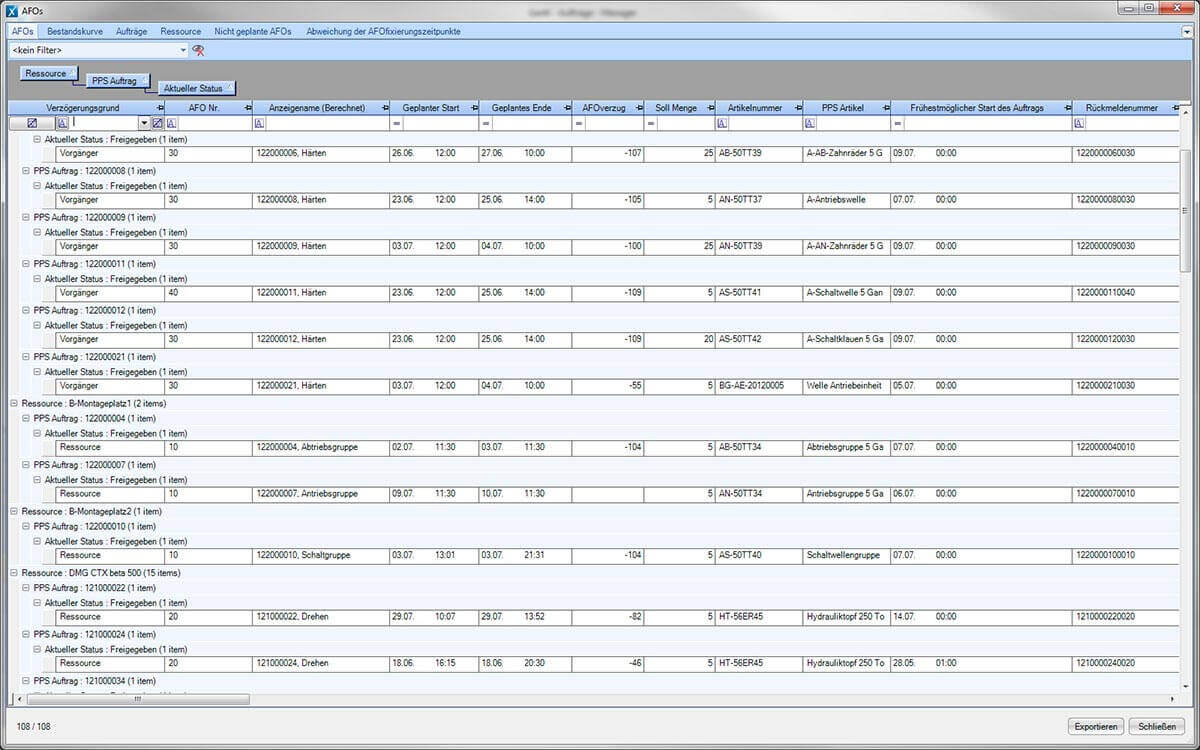 PROXIA Product Control room/Detailed planning software impression 19