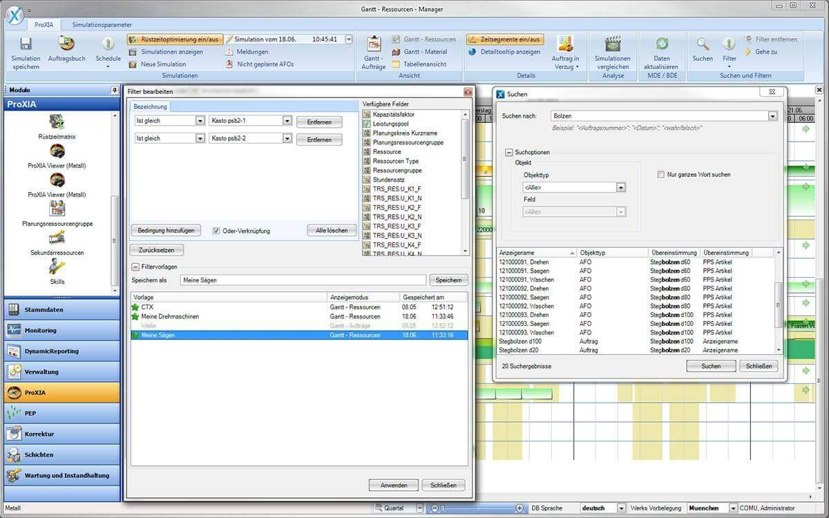 PROXIA Product Control room/Detailed planning software impression 20