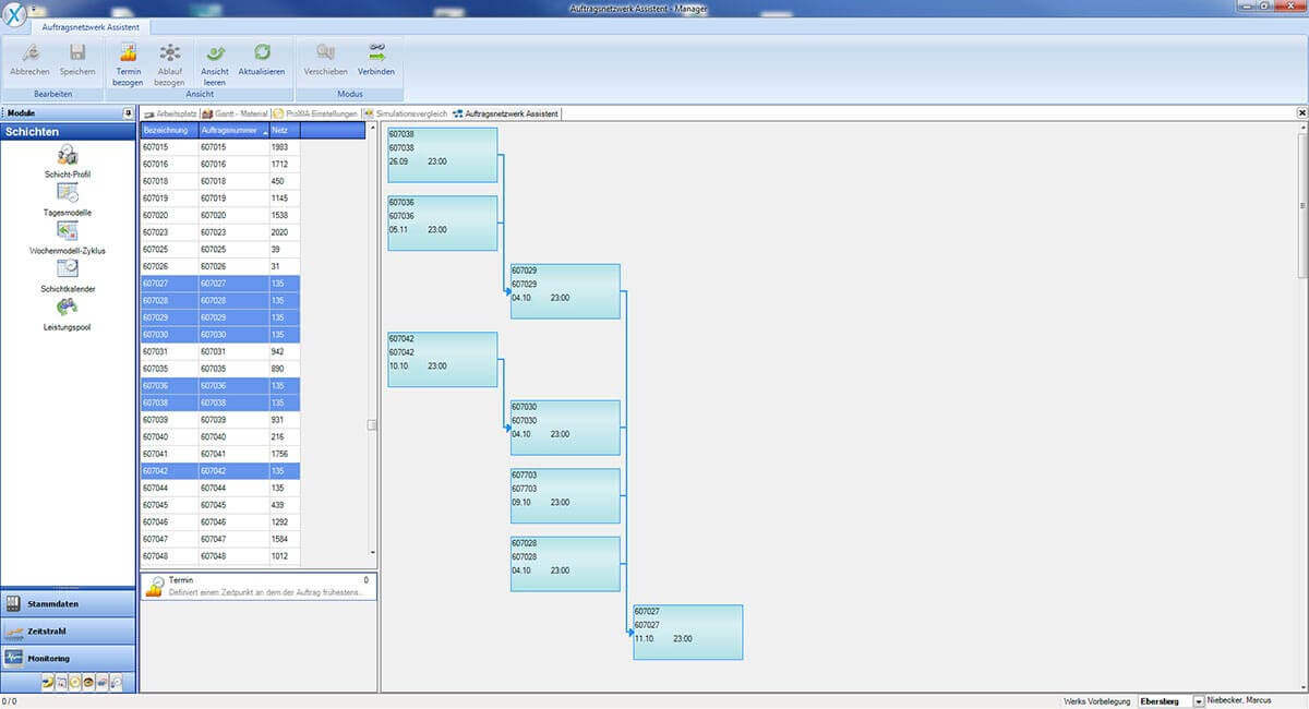 PROXIA Product Control room/Detailed planning software impression 21