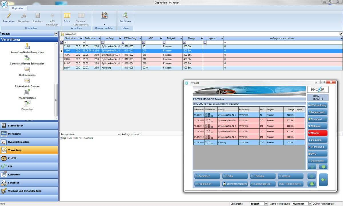 PROXIA Product manager software impression 6
