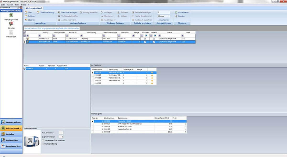 PROXIA Produkt Tool-Data-Management Software-Impression 1