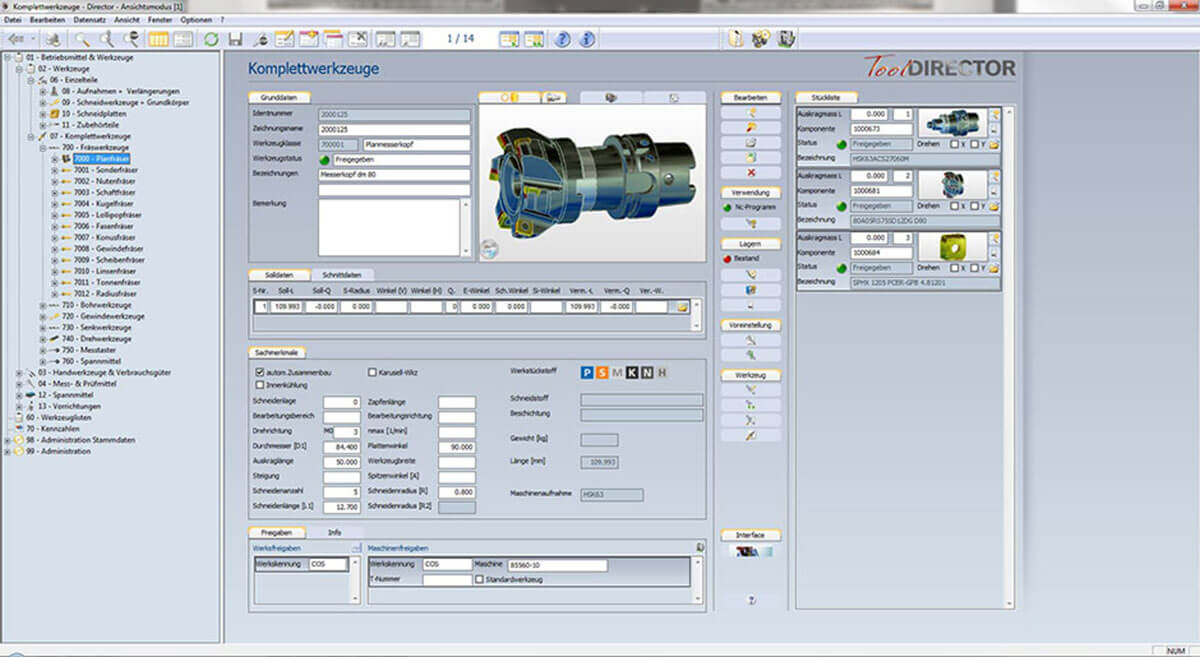 PROXIA Produkt Tool-Data-Management Software-Impression 3