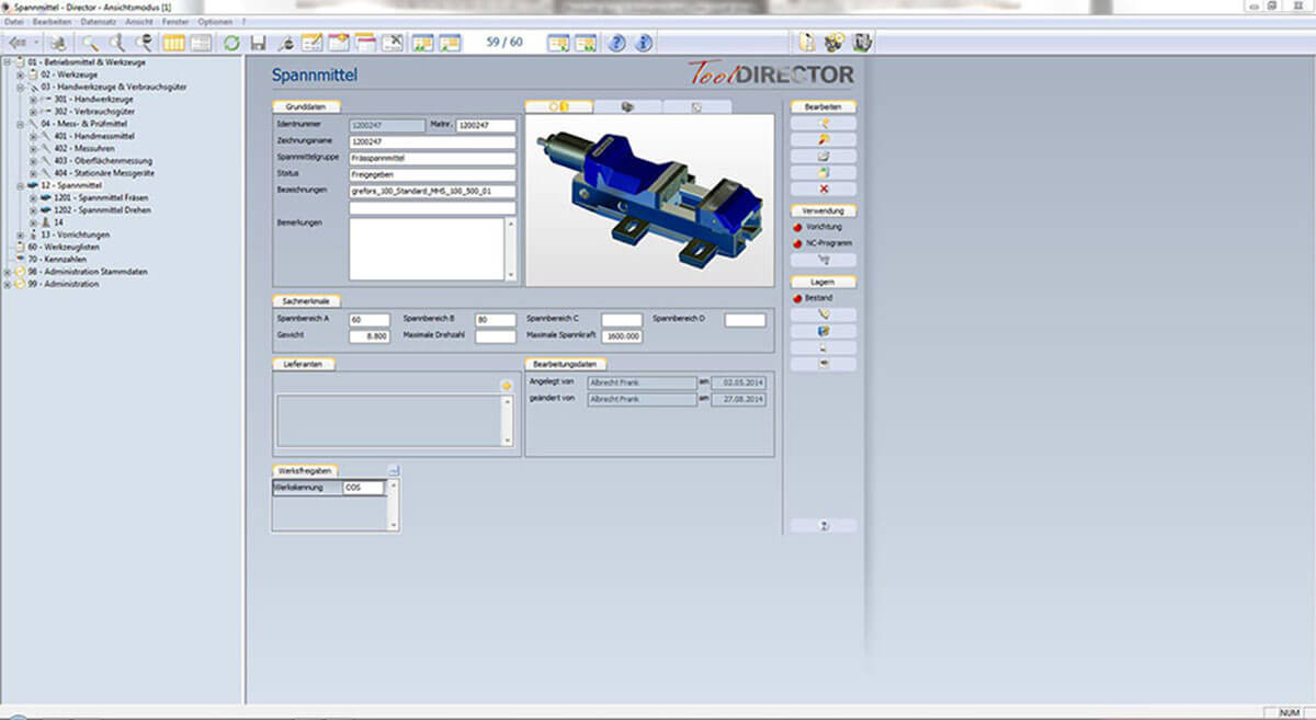 PROXIA Product Tool-Data management software impression 4