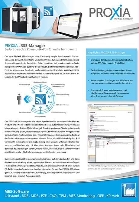PROXIA Flyer RSS-Manager
